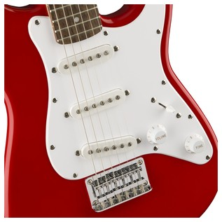 Squier Mini Stratocaster 3/4 Size Electric Guitar, Red