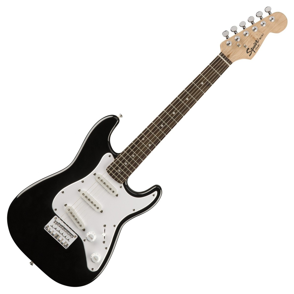 squier by fender mini stratocaster 3 4 size electric guitar black at