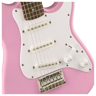Squier Mini Stratocaster 3/4 Size Electric Guitar, Pink