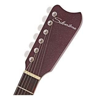 Silvertone 1449 Electric Guitar, Red Sparkle Metallic