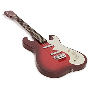 Silvertone 1449 Electric Guitar, Red Sparkle Metallic