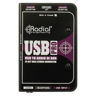 Radial USB Pro Stereo USB Laptop DI Line Isolator