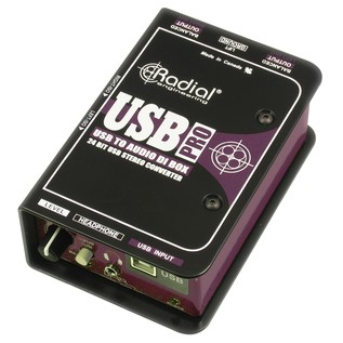 Radial USB Pro Stereo USB Laptop DI Box