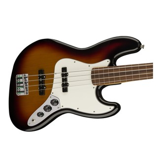 Fender Standard Jazz Bass FretLess Bass Guitar, PW, Brown Sunburst Body