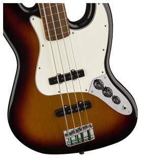 Fender Standard Jazz Bass FretLess Bass Guitar, PW, Brown Sunburst Controls