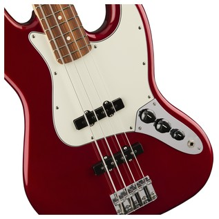 Fender Standard Jazz Bass, Pau Ferro, Candy Apple Red Controls
