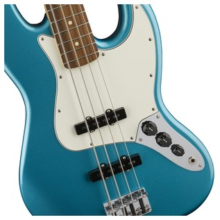Fender Standard Jazz Bass, Pau Ferro, Lake Placid Blue Controls