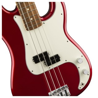 Fender Standard Precision Bass, Pau Ferro, Candy Apple Red Controls