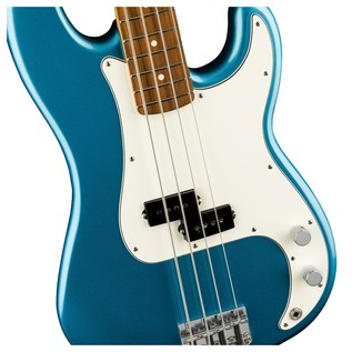 Fender Standard Precision Bass, Pau Ferro, Lake Placid Blue Controls