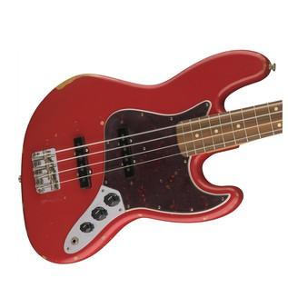 Fender Road Worn 60s Jazz Bass, Pau Ferro, Fiesta Red Body