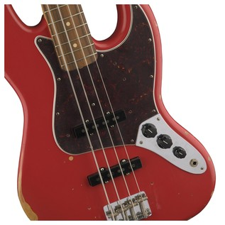 Fender Road Worn 60s Jazz Bass, Pau Ferro, Fiesta Red Controls