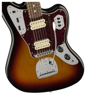 Fender Classic Player Jaguar Special HH, Pau Ferro, 3 Tone Sunburst body detail