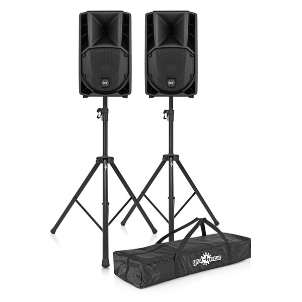 RCF ART 712-A MK4 Active Speaker Pair with Stands