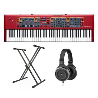 Nord Stage 2 EX HP76 Stage Piano with Stand and AKG Headphones - Bundle