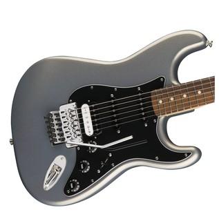 Fender Standard Strat HSS, Pau Ferro, Floyd Rose, Ghost Silver Body