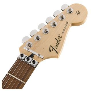Fender Standard Strat HSS, Pau Ferro, Floyd Rose, Ghost Silver Headstock