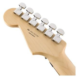 Fender Standard Strat HSS, Pau Ferro, Floyd Rose, Ghost Silver Headstock Back
