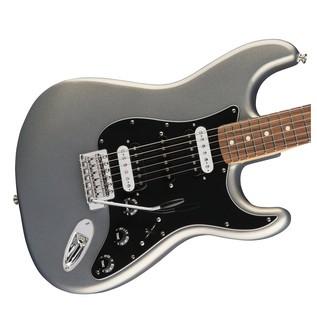 Fender Standard Strat HSH, Pau Ferro, Ghost Silver Body