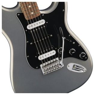 Fender Standard Strat HSH, Pau Ferro, Ghost Silver Controls