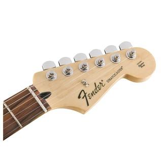 Fender Standard Strat HSH, Pau Ferro, Ghost Silver Headstock