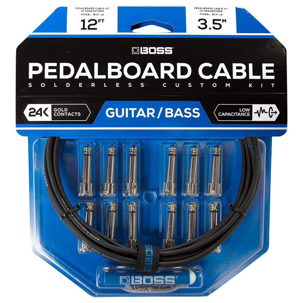 Click to view product details and reviews for Boss Bck 12 Solderless Pedalboard Cable Kit.