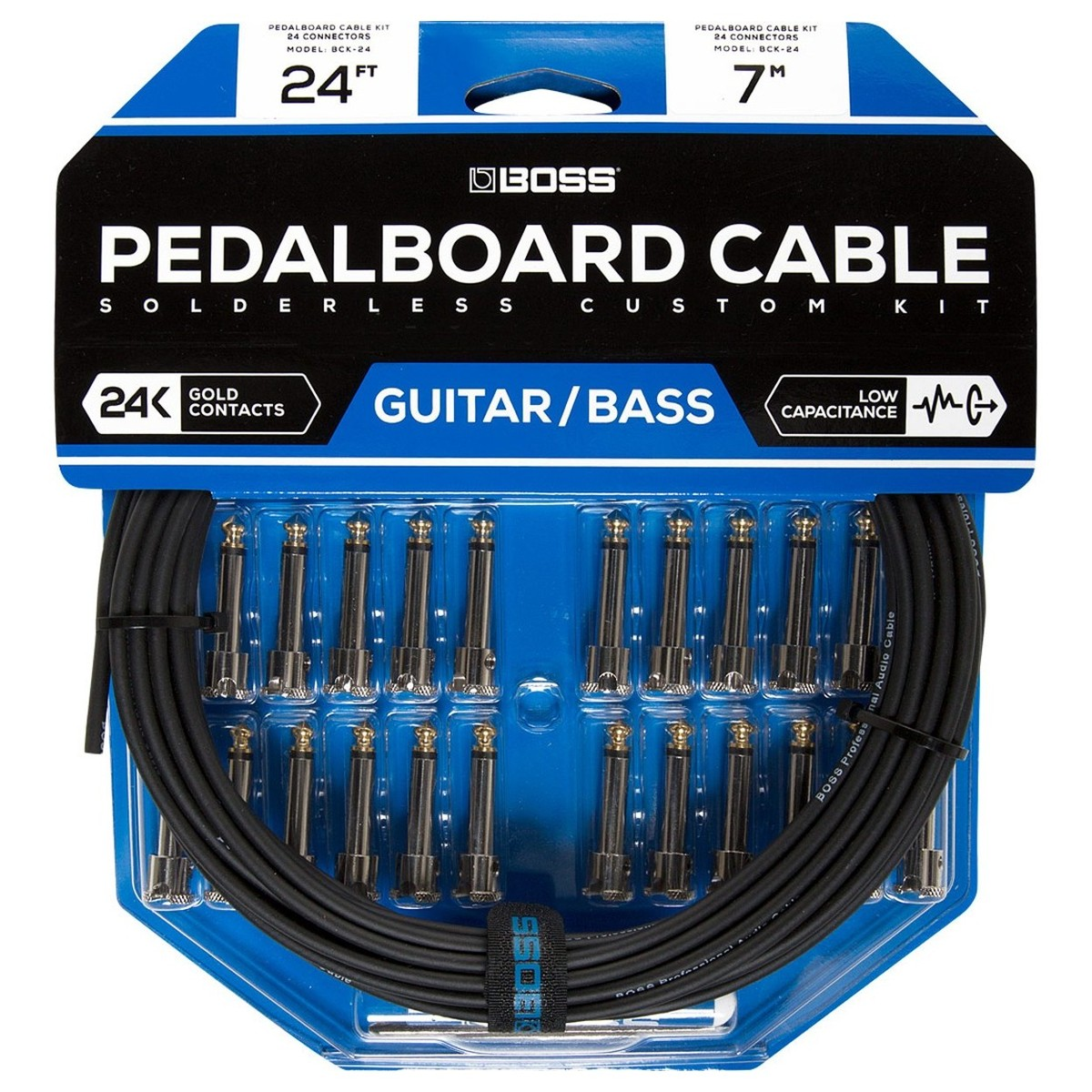 boss bck 24 solderless pedalboard cable kit at gear4music. Black Bedroom Furniture Sets. Home Design Ideas