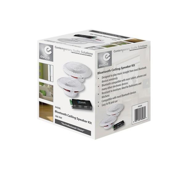 E Audio Bluetooth Ceiling Speaker Kit Box Opened Gear4music