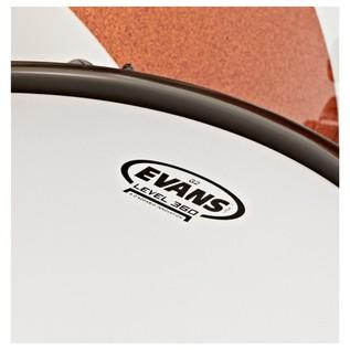 Natal Originals Maple 4pc Shell Pack, White Sparkle w/ Orange Inlay
