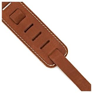 Richter 1553 Raw II Contour Waxy Suede Guitar Strap, Brown