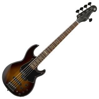 Yamaha BB 735A 5-String Bass Guitar, Dark Coffee Sunburst