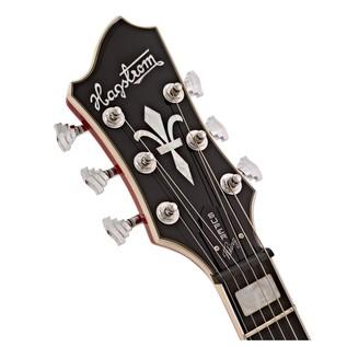 Hagstrom Super Viking Semi-Hollow Left Handed Guitar, Wild Cherry