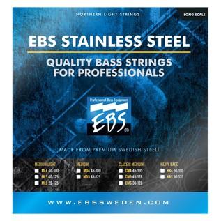 EBS EBS0077-B1 4-Strings, LC, 100% Stainless-Steel Medium Light