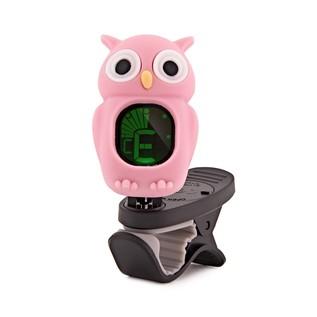 Swiff B7 Owl Chromatic Tuner for Guitar, Bass, Uke & Violin, Pink