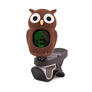 Swiff B7 Owl Chromatic Tuner for Guitar, Bass, Uke & Violin, Brown