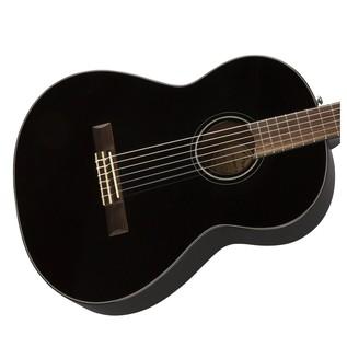 Fender CN-60S Acoustic Guitar, Black Body