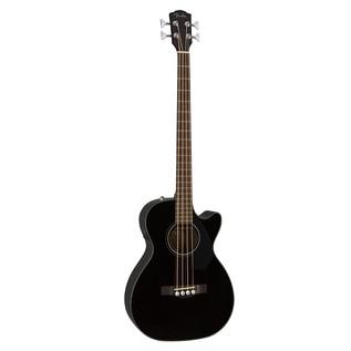 Fender CB-60CE Acoustic Bass Guitar, Black Front