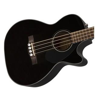 Fender CB-60CE Acoustic Bass Guitar, Black Body