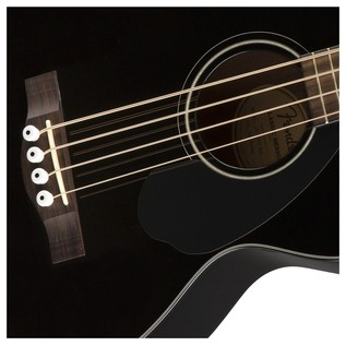 Fender CB-60CE Acoustic Bass Guitar, Black Rosette