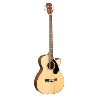 Fender CB-60CE Acoustic Bass Guitar, Natural Front