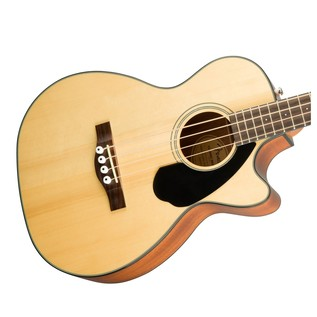 Fender CB-60CE Acoustic Bass Guitar, Natural Body
