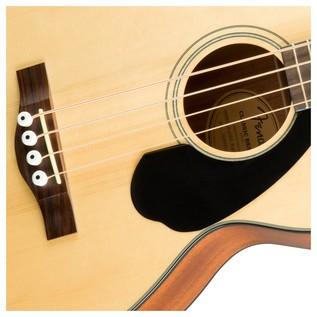 Fender CB-60CE Acoustic Bass Guitar, Natural Rosette