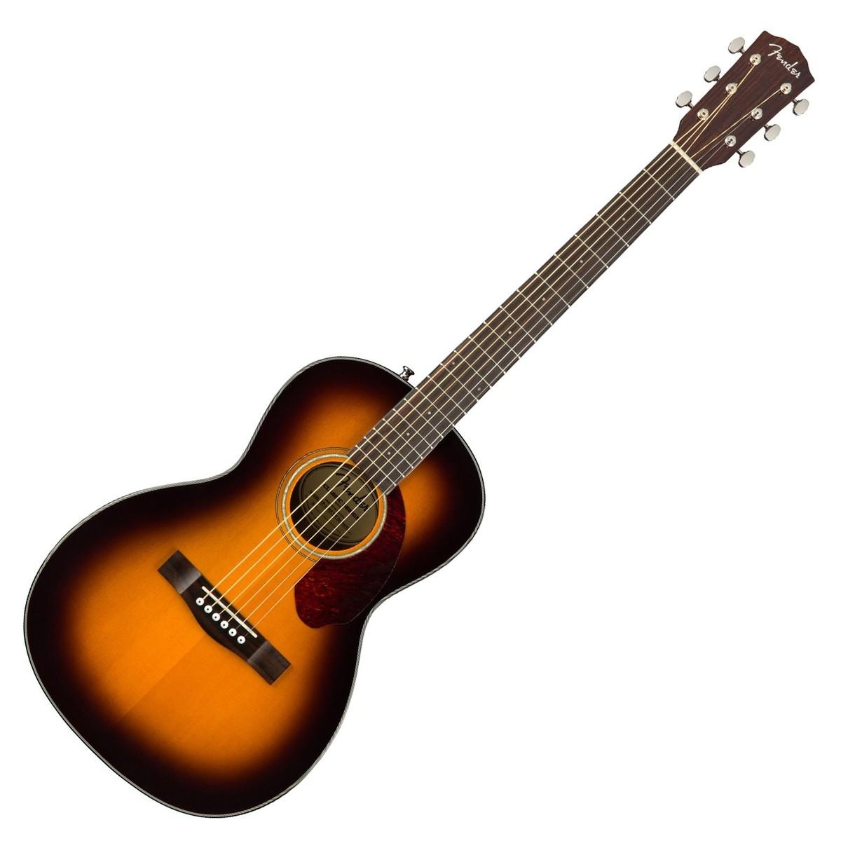 55800f4353b Fender CP-140SE Acoustic Guitar, Sunburst With Case. Loading zoom
