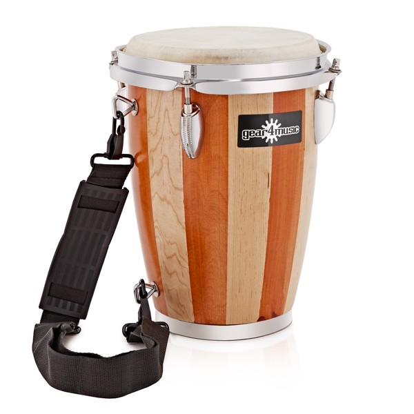 "7.5"" Wooden Conga with Strap"