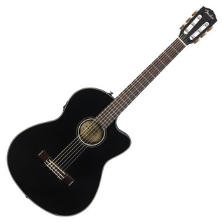 Fender CN-140SCE Acoustic Guitar, Black With Case