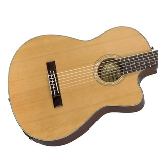 Fender CN-140SCE Acoustic Guitar, Natural With Case Body
