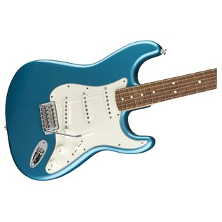 Fender Standard Stratocaster Electric Guitar, PF, Lake Placid Blue close up body
