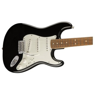 Fender Standard Stratocaster, Pau Ferro, Black close up body