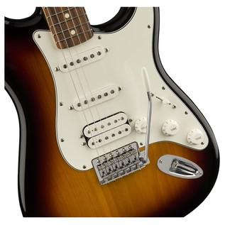 Fender Standard Stratocaster HSS Electric Guitar pau ferro close up body