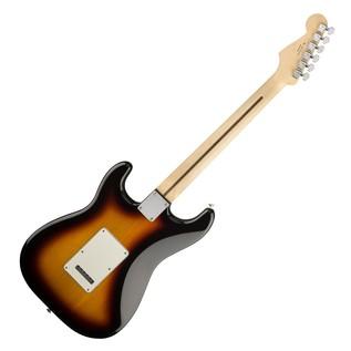 Fender Standard Stratocaster HSS Electric Guitar, PW, Brown Sunburst full rear view