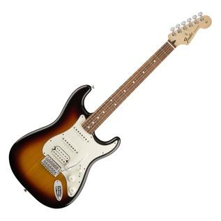 Fender Standard Stratocaster HSS Electric Guitar Brown Sunburst full front view